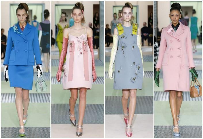 Коллекция от дома «Prada» из неопрена Осень – Зима 2015-2016г была началом моды на эту ткань, которую затем воплотили в своих коллекциях многие дизайнеры.
