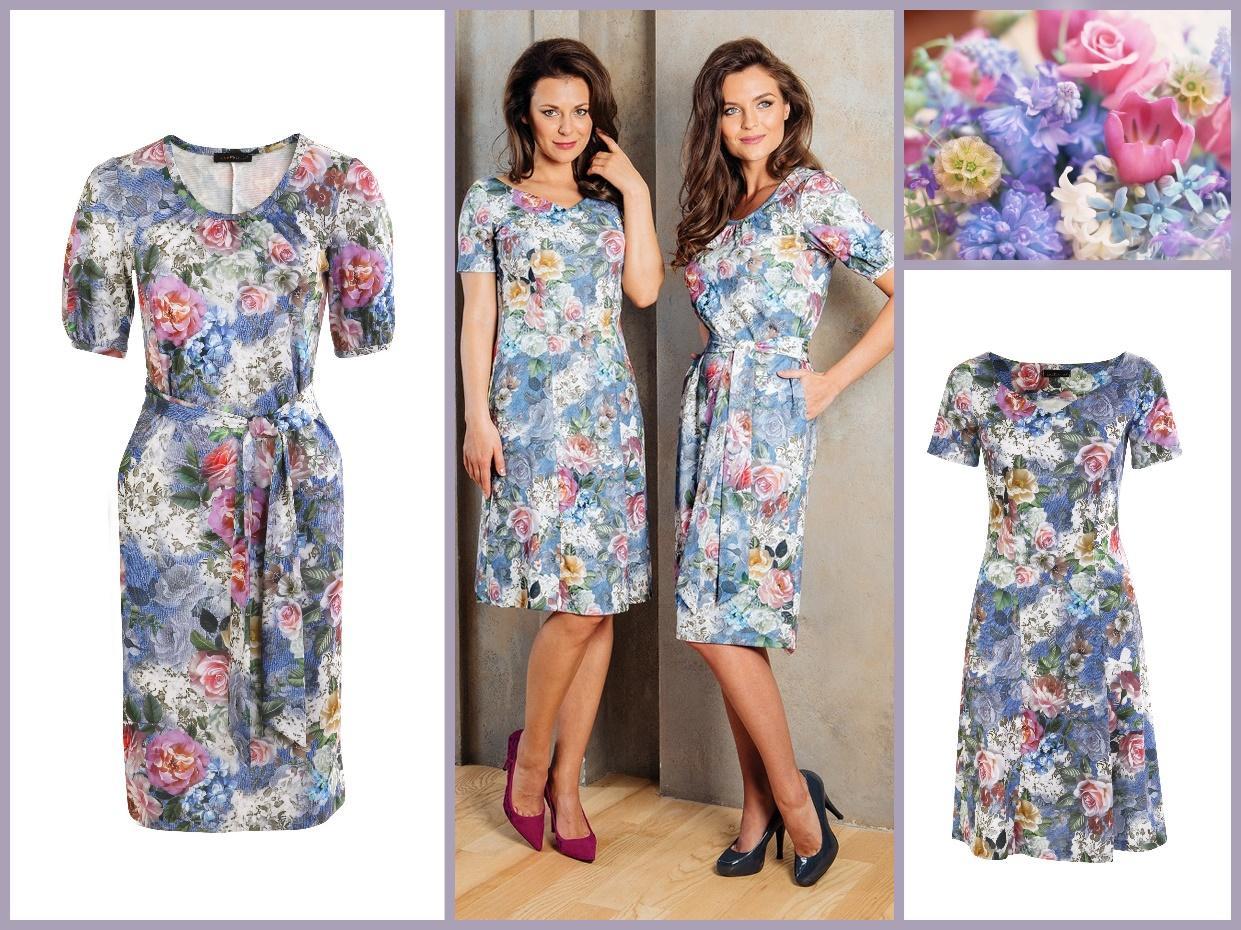 Весна – Лето 2017 Topdesign. Основная коллекция: платье А7 095 и платье А7 096.