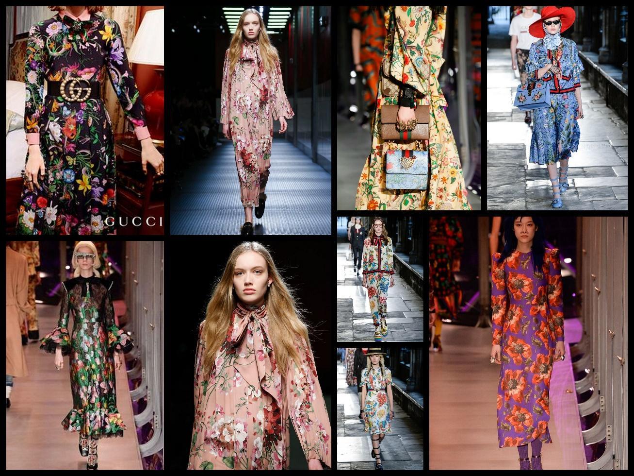 Последняя коллекция Весна – Лето 2017, Осень – Зима 2017-2018 от Gucci – настоящий цветочный бум!