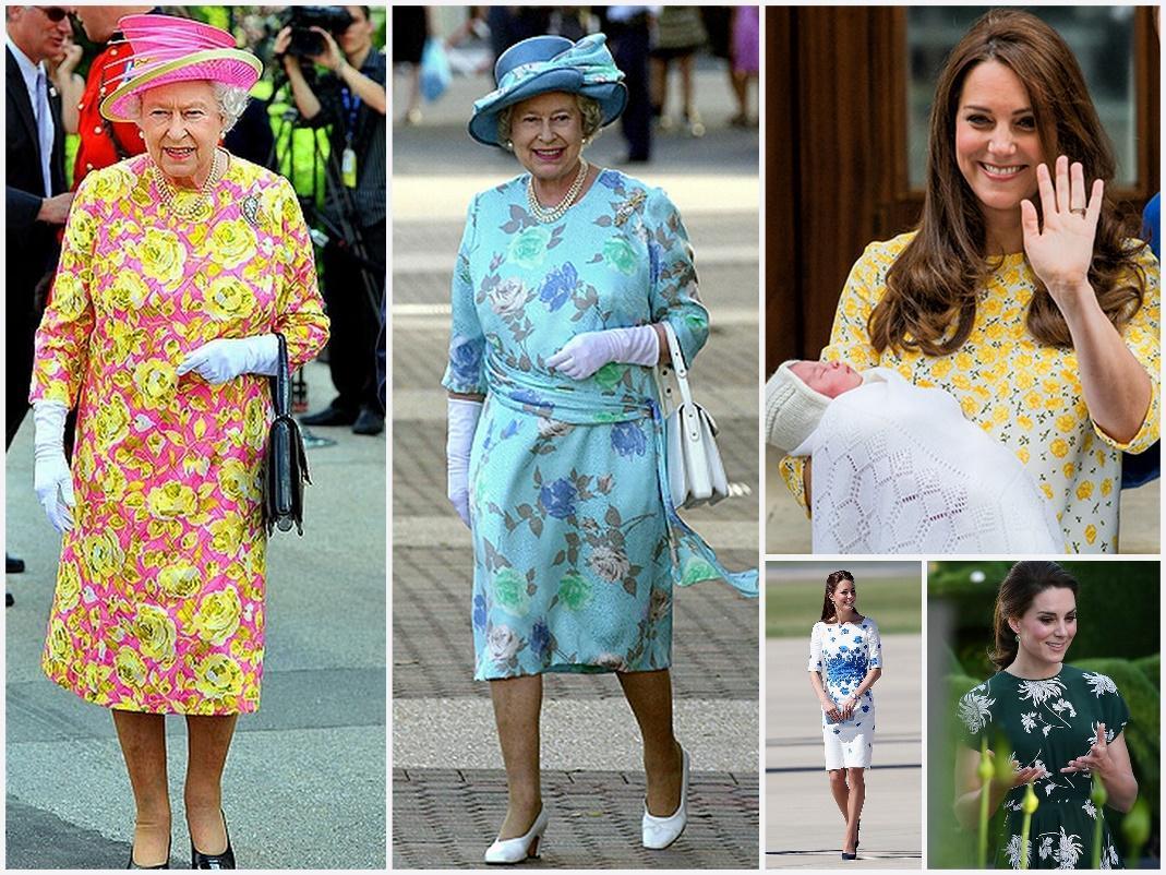 цветочные наряды принцессы Кейт Мидлтон