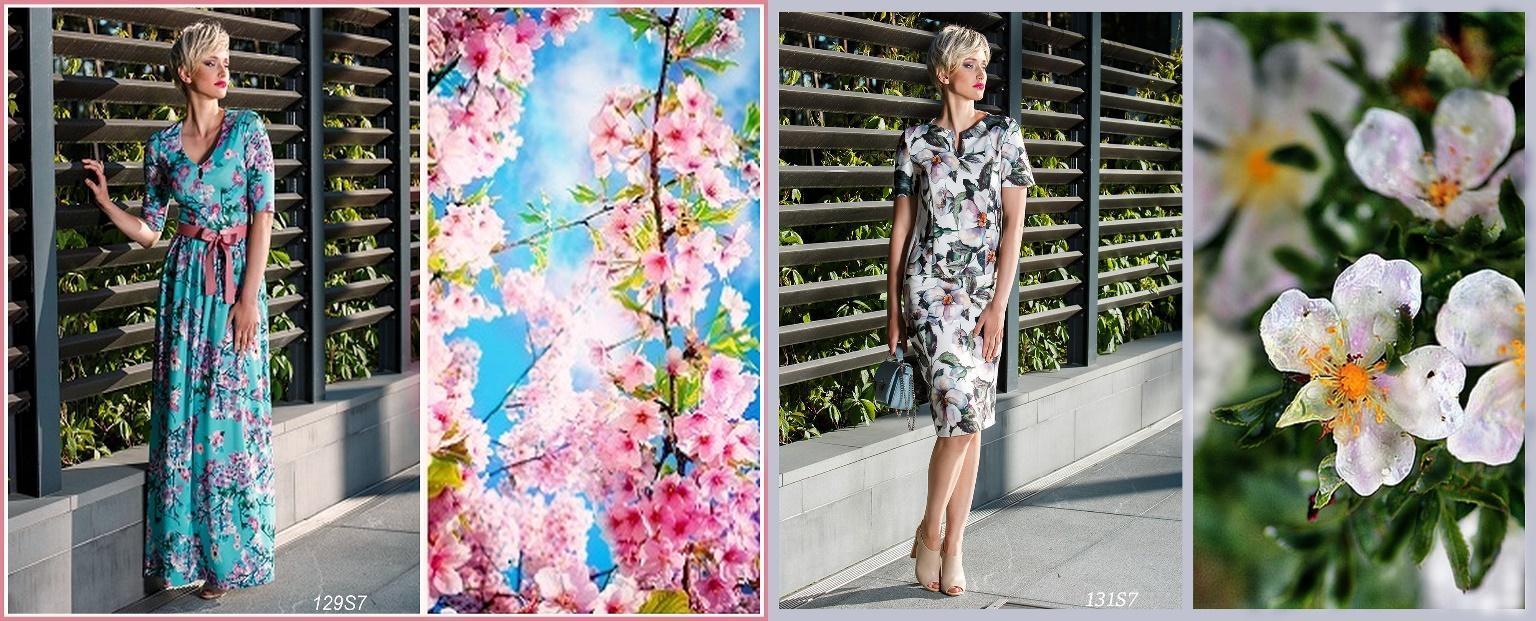 Реалистичные цветочные принты в коллекции Весна – Лето 2017 от vonFlaibach.