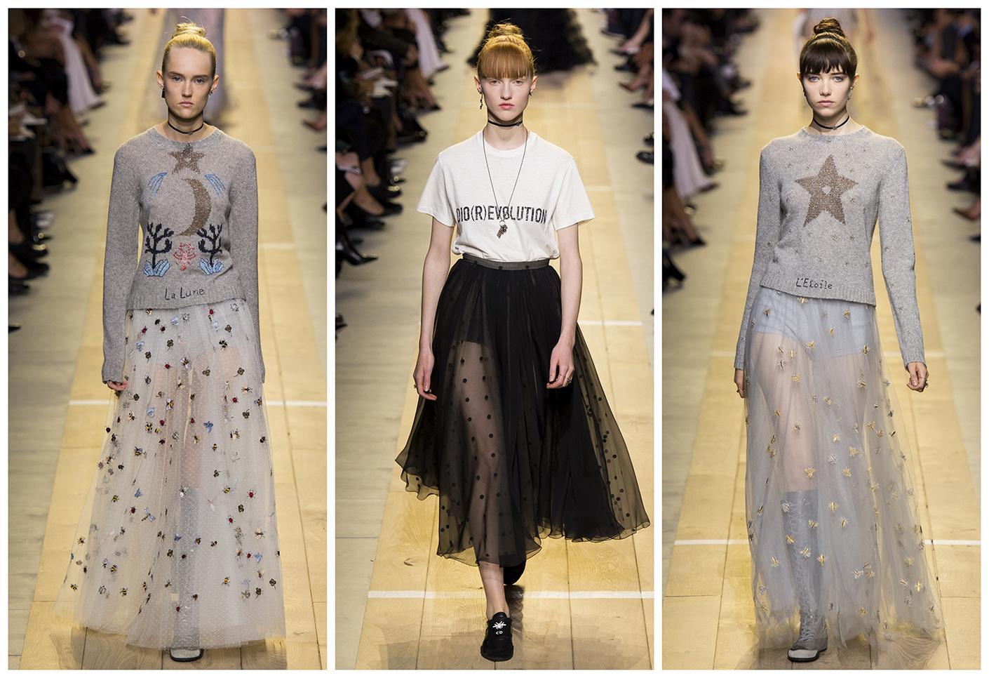 Неделя моды в Париже от Cristian Dior Весна – Лето 2017.