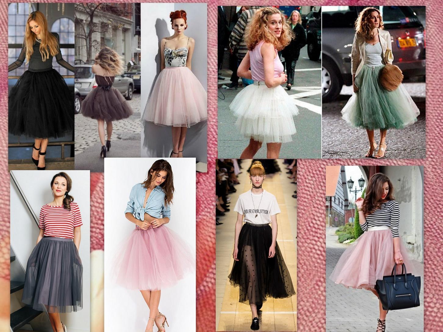 Юбка из сетки в модном образе не терпит конкуренции, единственным исключением может быть красивая обувь.