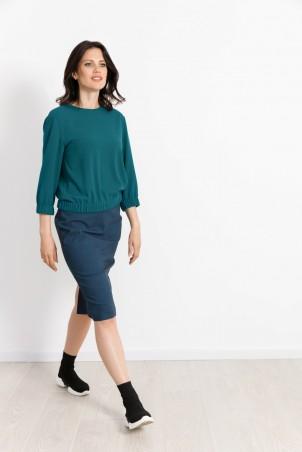 PB2110_blouse_PB2107_skirt_petrol